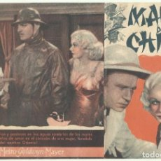 Cine: PTCC 049 MARES DE CHINA PROGRAMA DOBLE MGM CLARK GABLE JEAN HARLOW WALLACE BEERY. Lote 204368250