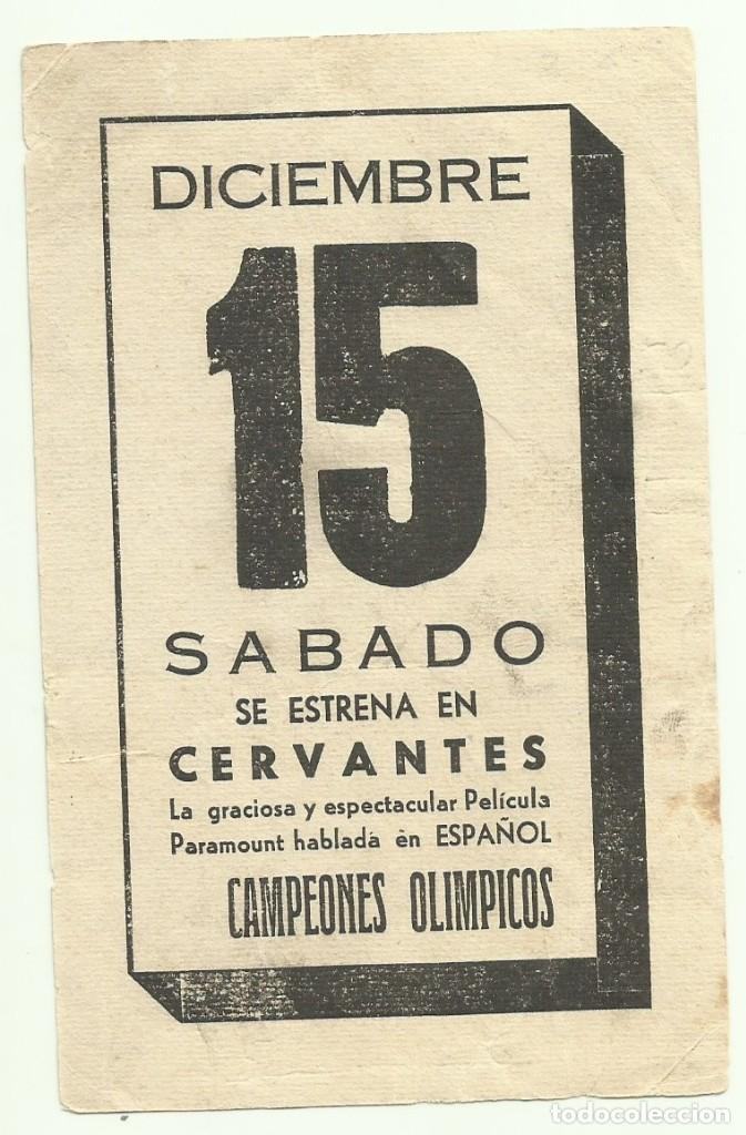 Cine: PTCC 050 CAMPEONES OLIMPICOS PROGRAMA TARJETA PARAMOUNT IDA LUPINO BUSTER CRABBE - Foto 2 - 204370198