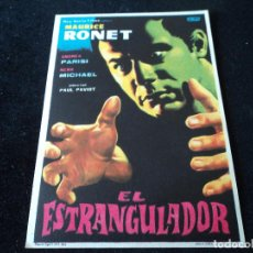Cine: EL ESTRANGULADOR - MAURICE RONET, ANDREA PARISI, NENA MICHAEL. Lote 204374286