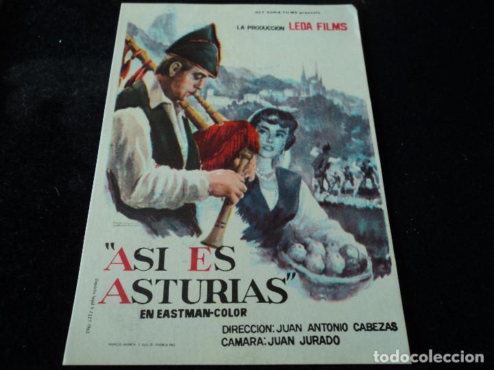 ASI ES ASTURIAS (Cine - Folletos de Mano - Documentales)
