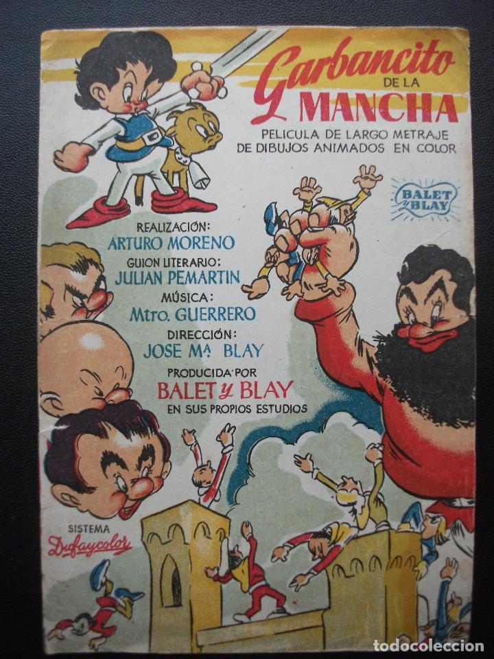 GARBANCITO DE LA MANCHA (Cine - Folletos de Mano - Infantil)