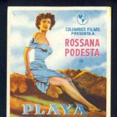 Cine: PROGRAMA DE CINE PLAYA PROHIBIDA. FERNANDO REY, ALFREDO MAYO. SIN PUBLICIDAD. Lote 204493785