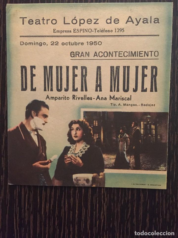 Cine: DE MUJER A MUJER - DOBLE CIFESA - CON PUBLICIDAD - Foto 2 - 204525832