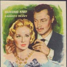 Folhetos de mão de filmes antigos de cinema: PROGRAMA SENCILLO DE CONFESIÓN ANTE CUATRO OJOS (1954) - TEATRO PRINCIPAL DE ALCOY. Lote 204538972