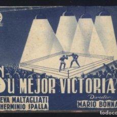Cine: P-8757- SU MEJOR VICTORIA (IO, SUO PADRE) (DOBLE) EVA MALTAGLIATI - HERMINIO SPALLA. Lote 204551862