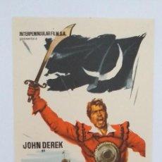 Cine: EL CORSARIO DE LA MEDIA LUNA JOHN DEREK PROGRAMA DE CINE SIN PUBLICIDAD. Lote 204594978