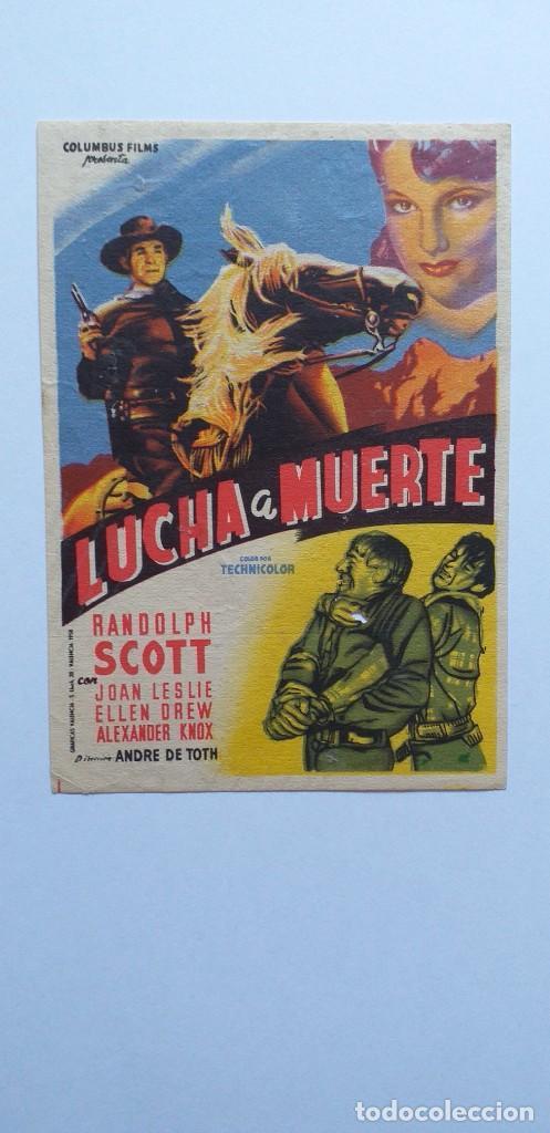 LUCHA A MUERTE RANDOLPH SCOTT PROGRAMA DE CINE SIN PUBLICIDAD (Cine - Folletos de Mano - Westerns)