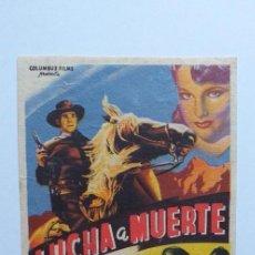 Cine: LUCHA A MUERTE RANDOLPH SCOTT PROGRAMA DE CINE SIN PUBLICIDAD. Lote 204596001