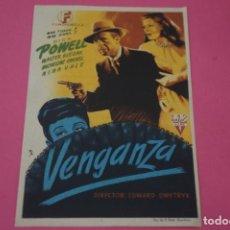 Foglietti di film di film antichi di cinema: FOLLETO DE MANO PROGRAMA DE CINE VENGANZA CON PUBLICIDAD LOTE 3. Lote 204647216