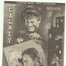 Cine: PTCC 053 LA CIUDAD SINIESTRA PROGRAMA DOBLE GRIS WARNER JAMES CAGNEY MARGARET LINDSAY. Lote 204686390