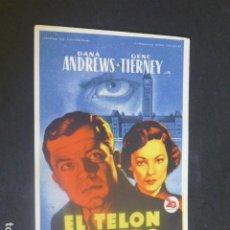 Cine: EL TELON DE ACERO PROGRAMA DE MANO SIN PUBLICIDAD. Lote 204687968