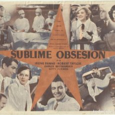Cine: PTCC 053 SUBLIME OBSESION PROGRAMA DOBLE UNIVERSAL IRENE DUNNE ROBERT TAYLOR. Lote 204722072