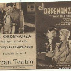 Cine: PTCC 053 EL ORDENANZA PROGRAMA DOBLE IBERICA IFSA MARCELLE CHANTAL FERNANDEL JORGE RIGAUD. Lote 204725135