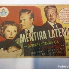 Cine: LA MENTIRA LATENTE. BARBARA STANWYCK. CIFESA.. Lote 204761358