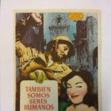 Cine: TAMBIÉN SOMOS SERES HUMANOS. BURGESS MEREDITH. PRODUCCIONES CINEMATOGRAFICAS ROSA.. Lote 204761635