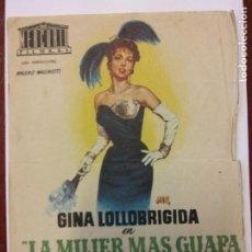 Cine: LA MUJER MÁS GUAPA DEL MUNDO. GINA LOLLOBRIGIDA. VITTORIO GASSMANN. MERCURIO FILMS.. Lote 204768203