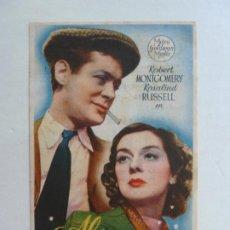 Folhetos de mão de filmes antigos de cinema: AL CAER LA NOCHE. C/P. Lote 204803945