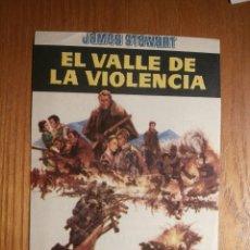 Cine: FOLLETO DE MANO CINE - PELÍCULA, FILM - LARGOMETRAJE - EL VALLE DE LA VIOLENCIA - ARENAS GAYARRE. Lote 204835292