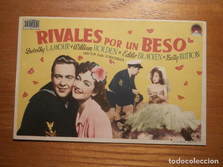 FOLLETO DE MANO CINE - PELÍCULA, FILM - LARGOMETRAJE - RIVALES POR UN BESO (Cine - Folletos de Mano - Drama)