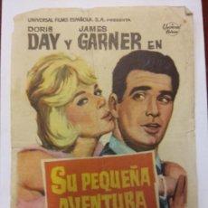 Cine: SU PEQUEÑA MENTIRA. DORIS DAY. JAMES GARNER. UNIVERSAL.. Lote 204978552