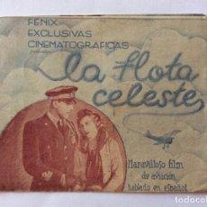 Cine: PROGRAMA DOBLE CON CINE IMPRESO. AVIÓN, OCTUBRE 1936 GUERRA CIVIL. LA FLOTA CELESTE.. Lote 204979446