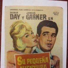 Cine: SU PEQUEÑA AVENTURA. DORIS DAY. JAMES GARNER. UNIVERSAL.. Lote 204982725