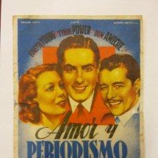 Cine: AMOR Y PERIODISMO. SLIM SUMMERVILLE. GEORGE SANDERS. EMISORA FILMS.. Lote 204987200