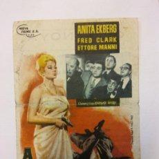Cine: A PUERTA CERRADA. ANITA EKBERG. FRED CLARK. NUEVA FILMS.. Lote 204987431