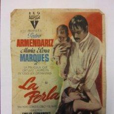 Cine: LA PERLA. PEDRO ARMENDARIZ. MARIA ELENA. MARQUES. RKO RADIO FILMS.. Lote 204992591