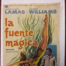 Cine: LA FUENTE MÁGICA. FERNANDO LAMAS. ESTHER WILLIAM. CINEMASCOPE.. Lote 204996486