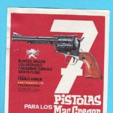 Cine: 7 PISTOLAS PARA LOS MAC GREGOR. LEO ANCHORIZ, FERNANDO SANCHO.. Lote 204997540