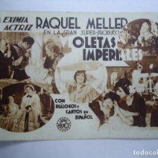 Cine: VIOLETAS IMPERIALES 1933 CON PUBLICIDAD DEL TEATRO LINARES RIVAS RAQUEL MELLER CARTULINA ORIGINAL C. Lote 205009693