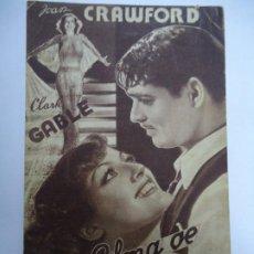 Cine: ALMA DE BAILARINA 1933 JOAN CRAWFORD, CLARK GABLE, FRANCHOT TONE, FRED ASTAIRE, WINNIE LIGHTNER, MAY. Lote 205011223