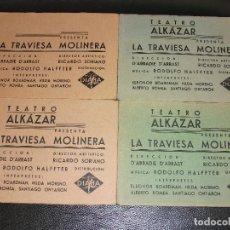 Cine: LA TRAVIESA MOLINERA 4 PROGRAMAS DE CINE CON FOTOS DIFERENTES TEATRO ALKAZAR EXCLUSIVAS DIANA. Lote 205039443