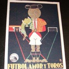 Cine: 1929 FUTBOL AMOR Y TOROS DE FLORIAN REY BLANQUITA RODRIGUEZ PROGRAMA DE CINE SAN CARLOS - VALENCIA. Lote 205045355