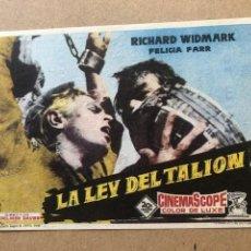 Cine: LA LEY DEL TALION TEATRO CIRCO 1959 ALBACETE EXCELENTE ESTADO. Lote 205068425