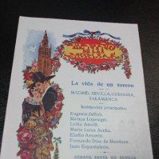 Cine: 1926 EL NIÑO DE LAS MONJAS O LA VIDA DE UN TORERO PROGRAMA DE CINE TEATRO BRETON DE SALAMANCA TOROS. Lote 205099470