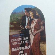 Folhetos de mão de filmes antigos de cinema: DEFIENDO MI VIDA. S/P. Lote 205122457