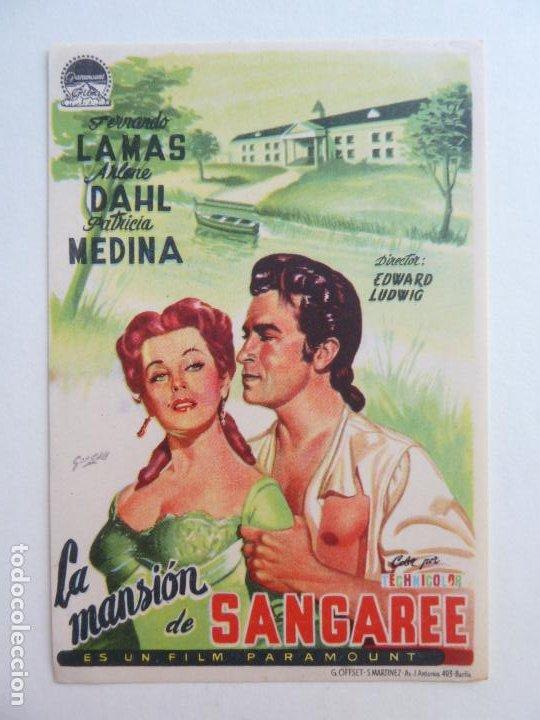 LA MANSIÓN DE SANGAREE. SELLO CINE (Cine - Folletos de Mano - Aventura)