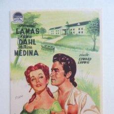 Flyers Publicitaires de films Anciens: LA MANSIÓN DE SANGAREE. SELLO CINE. Lote 205124637