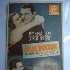Cine: MLLE. DOCTOR 1934 MYRNA LOY, GEORGE BRENT, LIONEL ATWILL, C. HENRY GORDON, RUDOLPH ANDERS, MISCHA AU. Lote 205133558