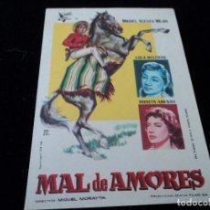 Cine: MAL DE AMORES CON MIGUEL ACEVES MEJIA LOLA BELTRAN Y ROSITA ARENAS. Lote 205137693