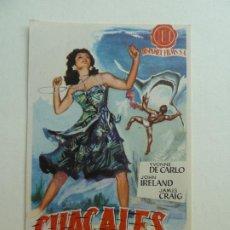 Flyers Publicitaires de films Anciens: CHACALES DEL MAR. S/P. Lote 205164350