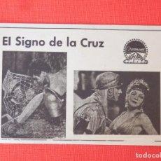 Flyers Publicitaires de films Anciens: EL SIGNO DE LA CRUZ, PARAMOUNT 1932, PROGRAMA CON FICHA TÉCNICA EN TRASERA EXCELENTE ESTADO. Lote 205165768