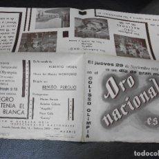 Cine: 1934 EL NEGRO QUE TENIA EL ALMA BLANCA PROGRAMA DE CINE MARIA BARRETO ANTOÑITA COLOMÉ ANGELILLO. Lote 205177252