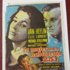 Cine: LA MUJER DE LA HABITACIÓN 251. VAN HEFLIN. ELLIE LAMBERT. FILM LUX TIBERIA.. Lote 205260155
