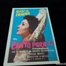 Cine: CANTO PARA TÍ CON MARIFÉ DE TRIANA Y ALFREDO MAYO CINE SAN ROQUE. Lote 205261117