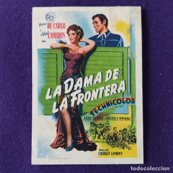 PROGRAMA DE CINE ORIGINAL. LA DAMA DE LA FRONTERA. ANDY DEVINE. BEVERLY SIMMONS. SIMPLE. (Cine - Folletos de Mano - Westerns)