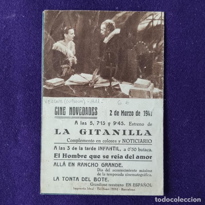 Cine: PROGRAMA DE CINE ORIGINAL. VERGARA (GUIPUZCOA). CINE NOVEDADES. LA GITANILLA.ESTRELLITA CASTRO.DOBLE - Foto 3 - 205282528