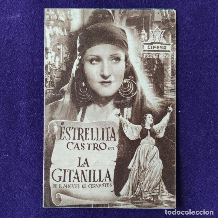 PROGRAMA DE CINE ORIGINAL. VERGARA (GUIPUZCOA). CINE NOVEDADES. LA GITANILLA.ESTRELLITA CASTRO.DOBLE (Cine - Folletos de Mano - Clásico Español)